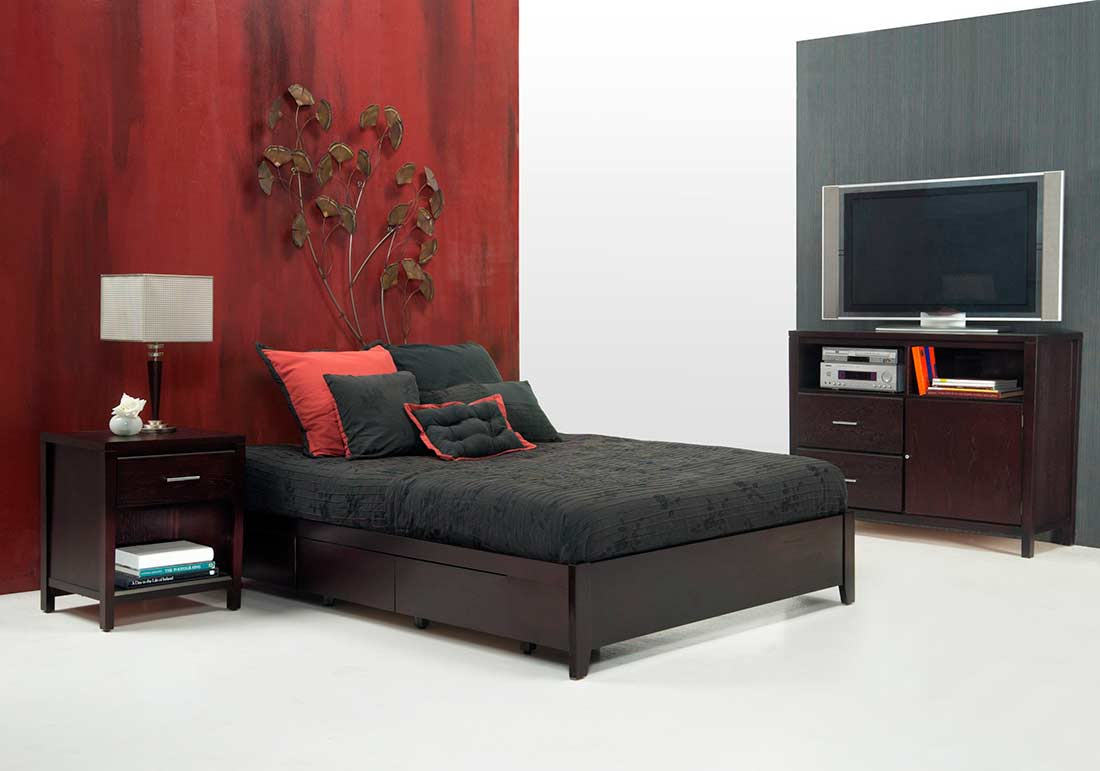 Simple Platform Bed MS Nile No Headboard Platform Beds