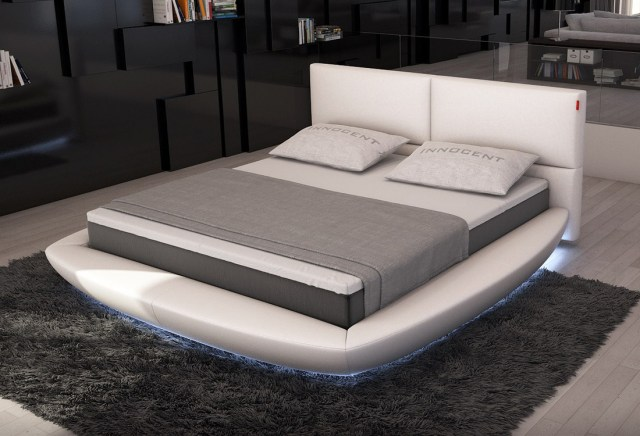 Lia Modern Bed with LED Lights | Contemporary Bedroom