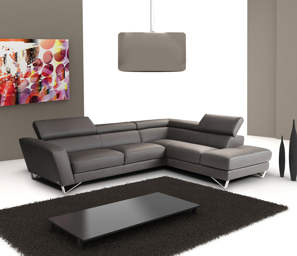 Black White Gray Sectional And Sofa