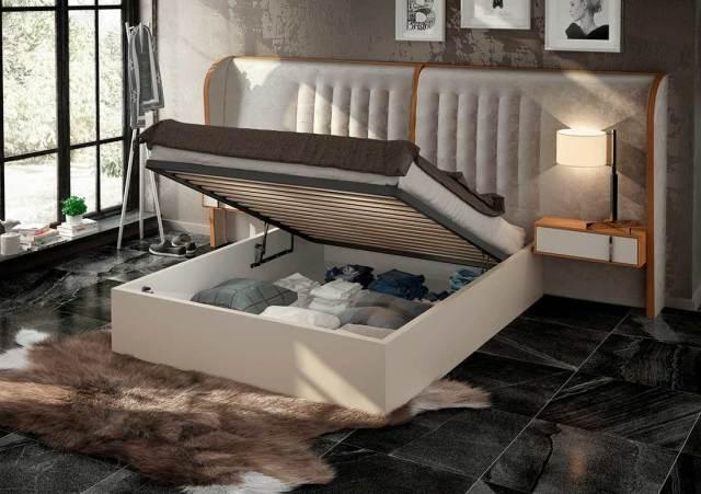 Ultra Modern Cream Bed EF Arise | Modern Bedroom Furniture