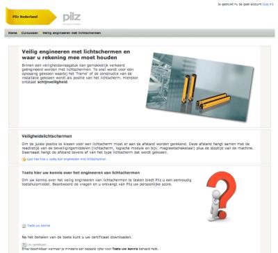 Pilz - Educommerce met Moodle