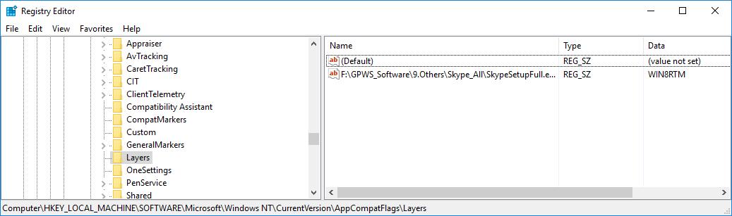 經由指令方式使用相容模式來執行應用程式