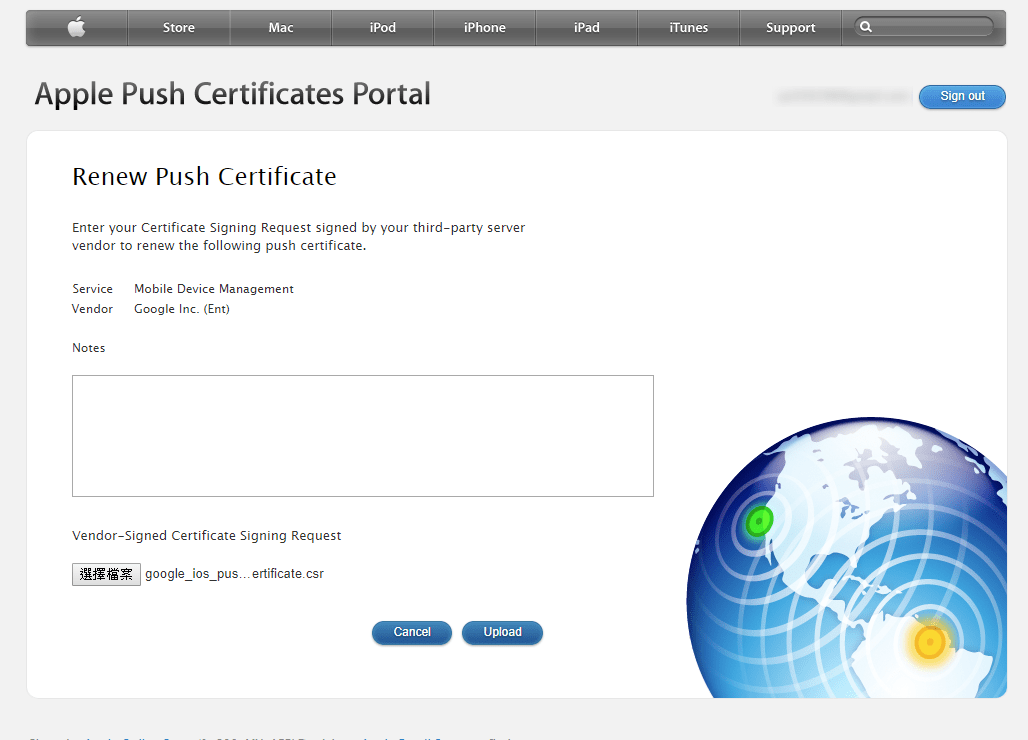 Renew an Apple Push Certificate