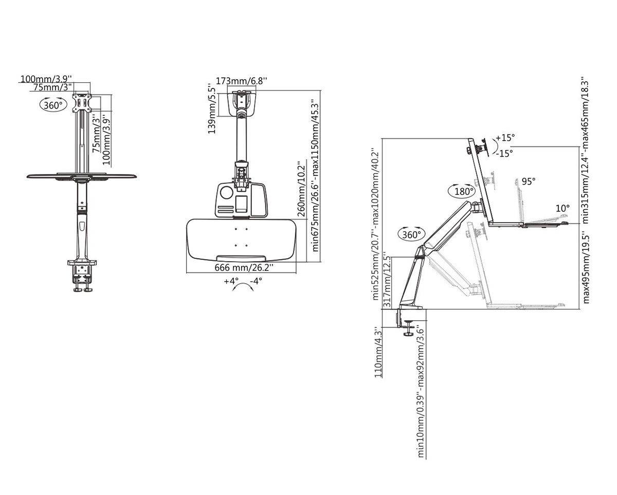 Boost Industries Dm T Single Display Sit Stand