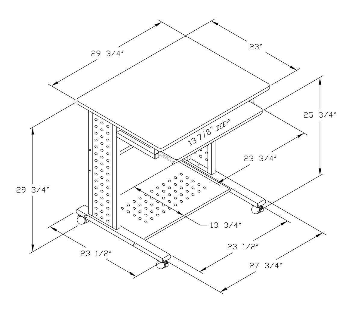 Boost Mobile Compact Space Saving Laptop Pc Desk Mcd 945a