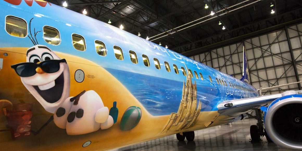 Sourch: WestJet Airlines (http://www.westjet.com/guest/en/about/disney-frozen-themed-plane.shtml)