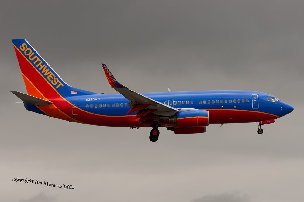 A 737 with blended winglets. The 737 did not have winglets for the first 30 years of production. (Photo by Jim Mumaw)