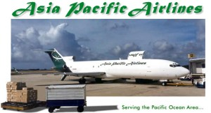 Asia Pacific Airlines operates a fleet of 3 727-200 cargo aircraft. (Screenshot from website at www.flyapa.com)