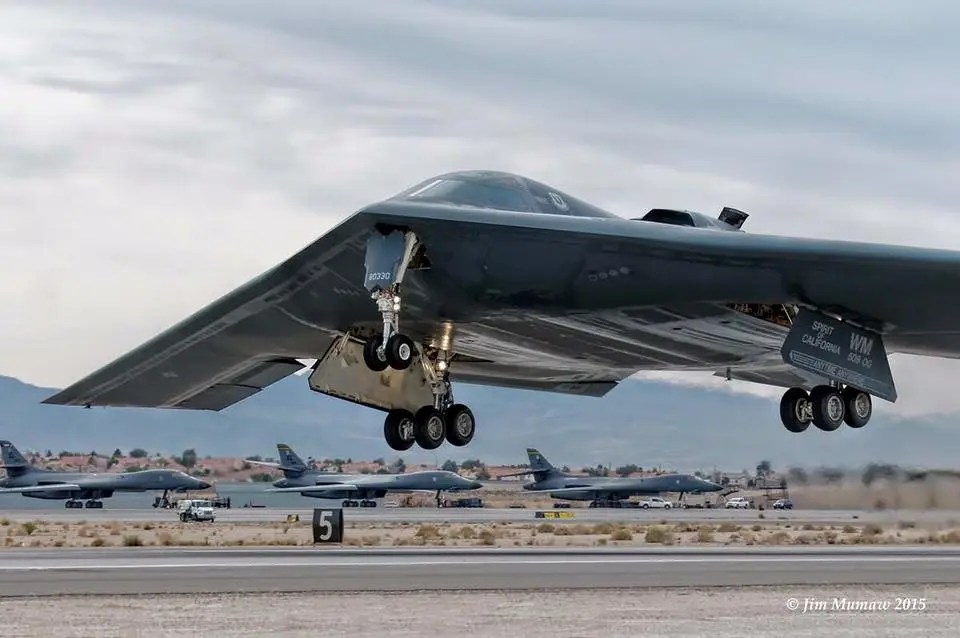 Northrup Grumman recently released rarely seen air to air footage of the B-2 Spirit. See below for the video. (Photo by Jim Mumaw)