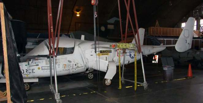 DAYTON, Ohio -- Fairchild T-46A is currently in storage at the National Museum of the United States Air Force. (U.S. Air Force photo)
