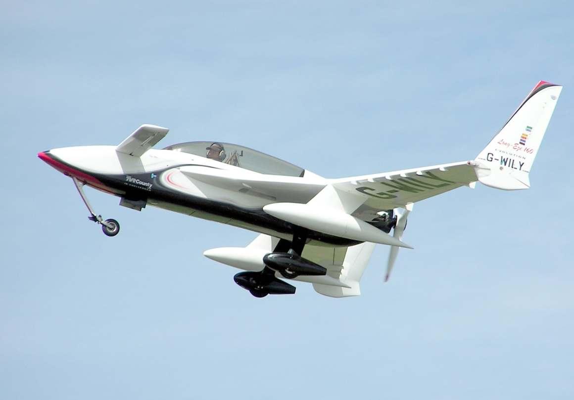 The Canard, Pusher-prop Long EZ is a popular homebuilt experimental aircraft.