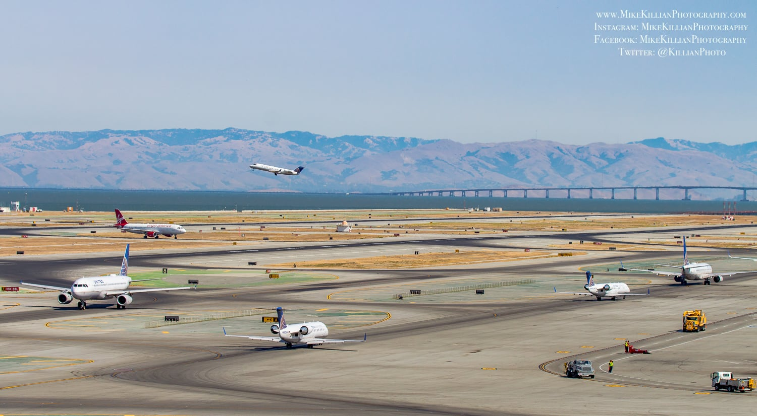 A view out towards SFO's runways. Credit Mike Killian