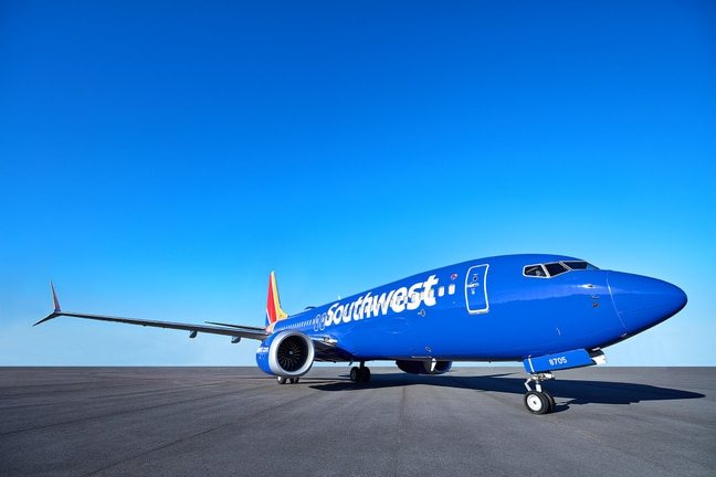 A new Southwest Airlines 737-8MAX