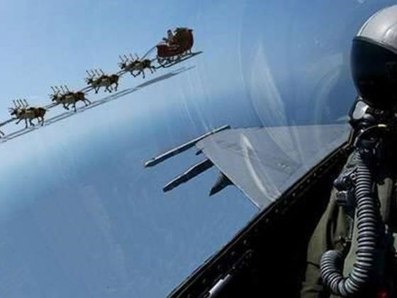 NORAD and military aircraft will support Santa's flight on Christmas Eve.