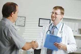 Doc greets patient