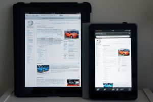 iPad and Kindle Fire HD