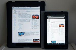 iPad and Kindle Fire HD