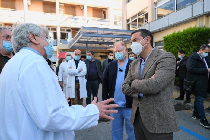 Αλέξης Τσίπρας νοσοκομείο Γεννηματάς