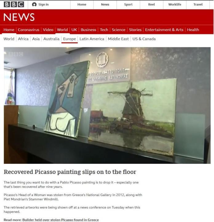 Το BBC για τον πίνακα με τον Πικάσο