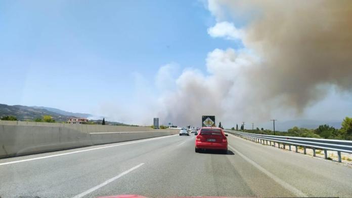 Καπνοί από τη φωτιά στην Αχαΐα