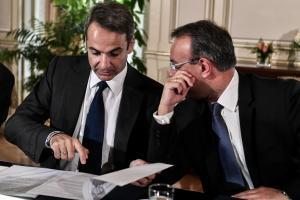Κυριάκος Μητσοτάκης και Χρήστος Σταϊκούρας στο υπουργικό συμβούλιο