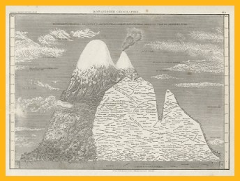 Geographie der Pflanzen in den Tropenländern, ein Naturgemälde der Anden, gegründet auf Beobachtungen und Messungen, welche vom 10. Grade nördlicher bis zum 10. Grade südlicher Breite angestellt worden sind, in den Jahren 1799 bis 1803'. Alexander von Humboldt und A.G.Bonpland, Staatsbibliothek zu Berlin, Kartenabteilung.