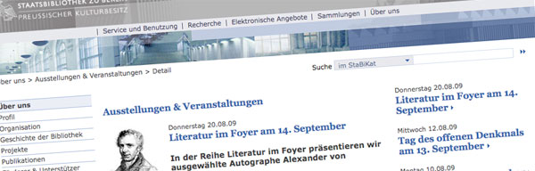 Autographe aus dem Nachlass in der Staatsbibliothek zu Berlin (Quelle: Staatsbibliothek zu Berlin)