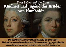 Dem Leben auf der Spur - Kindheit und Jugend der Brüder von Humboldt. Quelle: museumsportal-berlin.de