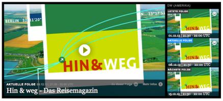 HIN & WEG - das Reisemagazin der Deutschen Welle (screenshot)
