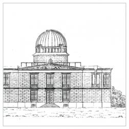 Neue Berliner Sternwarte, Lindenstraße Kreuzberg. In: Johann Franz Encke: Astronomische Beobachtungen auf der Königlichen Sternwarte zu Berlin, 1. Bd. Berlin 1840.