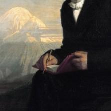 """Detail of Julius Schrader's portrait """"Alexander von Humboldt"""", 1859 (Source: Wikimedia Commons)"""