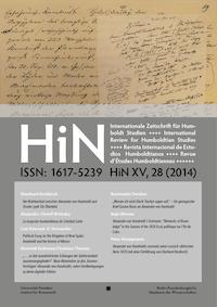 Cover der Ausgabe HiN XV, 28 (2014)