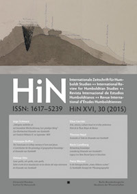 Cover HiN XVI, 30 (2015)