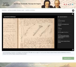 Journal de botanique Alexander von Humboldt et Aimé Bonpland, 1799-1804, © Paris, Muséum national d'Histoire naturelle