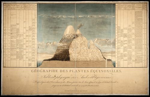 Humboldt: Naturgemälde der Tropen, Tableau physique, 1807