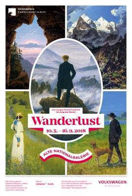 """""""Wanderlust. Von Caspar David Friedrich bis Auguste Renoir"""", Plakat zur Ausstellung © Staatliche Museen zu Berlin, Nationalgalerie"""