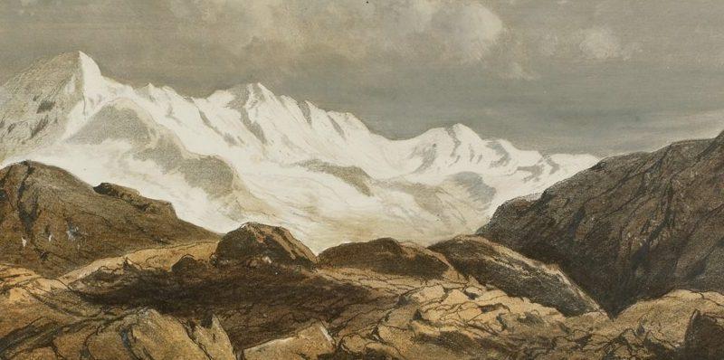 Nanda-Devi-Kette und Pindar-Gletscher (Ausschnitt)