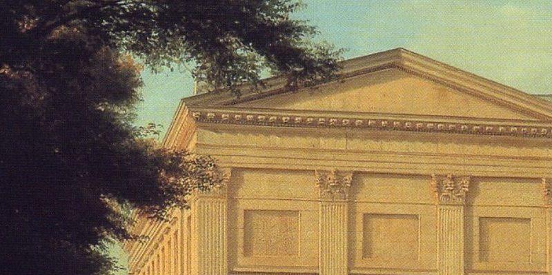 Gemälde der Berliner Sing-Akademie von Eduard Gärtner, 1843