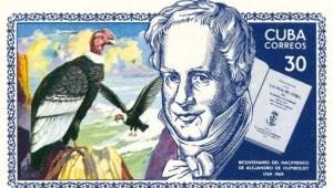 Briefmarke der cubanischen Post (1969) zu A.v. Humboldts 200. Geburtstag