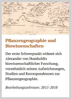 edition humboldt digital: Themenschwerpunkt Pflanzengeographie und Biowissenschaften