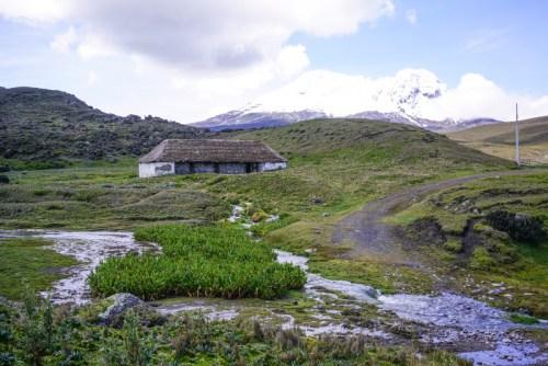 historische Berghütte in Ecuador