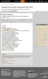Ehrenberg: Tagebuch der russisch-sibirischen Reise 1829