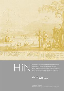 Cover der HiN XXI, 40 (2020)