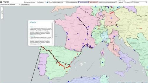 """Reiseroute Humboldts und Bonplands durch Frankreich (1798) und Spanien (1799) anhand der Humboldt-Chronologie und Humboldts Reisetagebüchern """"De Paris à Toulon"""" und """"Von Valencia nach Madrid"""""""