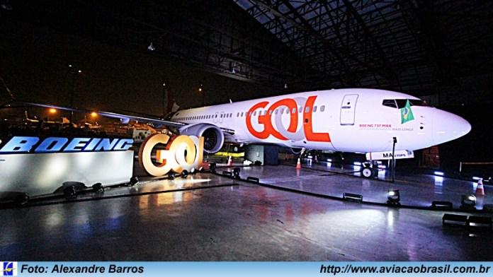 GOL, Gol realiza cerimônia para receber oficialmente o Boeing 737 MAX 8 em São Paulo, Portal Aviação Brasil