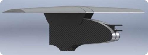 Render unión ala-fuselaje avión Caricare IV