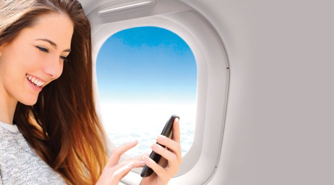 Uso del teléfono móvil en vuelo.