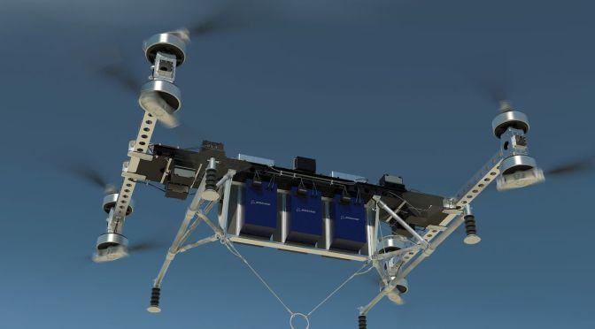 Boeing revela el prototipo de un drone de carga.