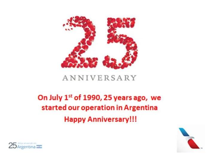 American Airlines 25 aniversario