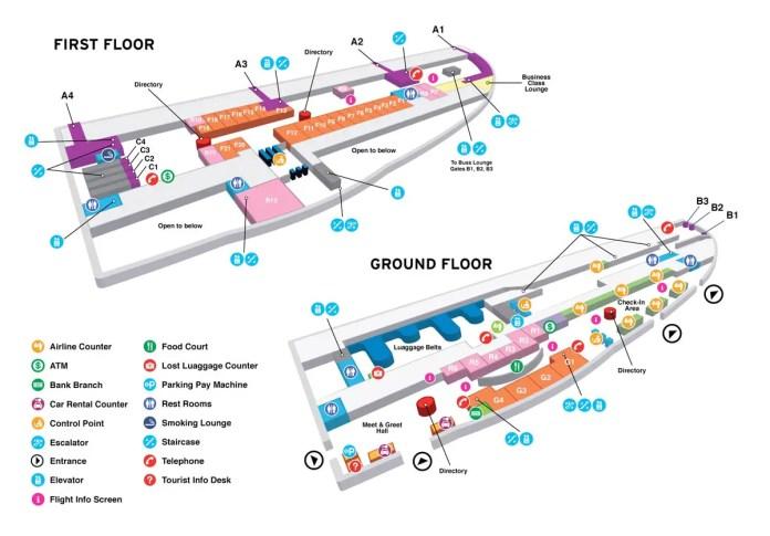 Plano de la terminal del aeropuerto de St. Maarten (Foto: www.sxmairport.com)